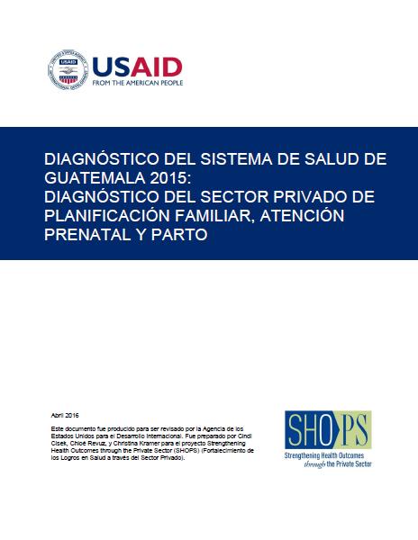 DIAGNOSTICO DEL SISTEMA DE SALUD DE GUATEMALA 2015 (PORTADA)
